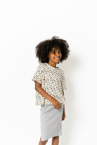 CREAM CHEETAH TEE