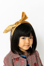 GOLD VELVET BOW HEADBAND