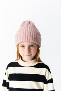 PINK RIBBED BEANIE