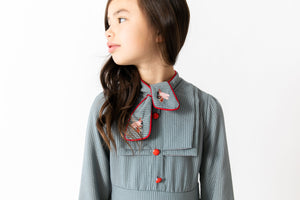 PINSTRIPE BUG DRESS