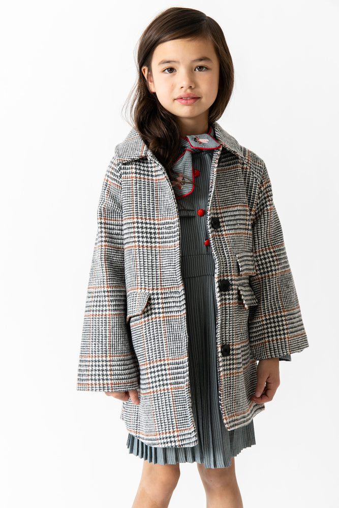 PLAID PEA COAT
