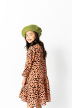 CORAL CHEETAH SWING DRESS