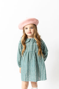 BLUE GINGHAM BABYDOLL DRESS