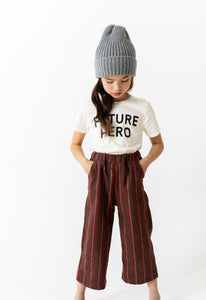 STRIPED WOOL PANTS