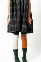 DARK GREEN COLOR BLOCK TIGHTS