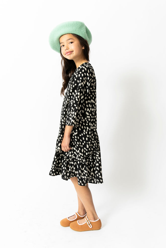 BLACK CHEETAH SWING DRESS