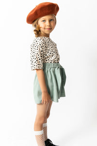 SEA GREEN BOW SHORTS