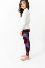 MAROON STRIPE RIBBED LEGGINGS