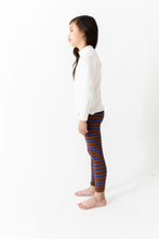 BROWN STRIPE RIBBED LEGGINGS