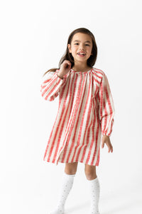 SUPER SOFT STRIPED NIGHTGOWN DRESS