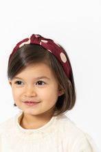 MAROON POLKA DOT HEADBAND