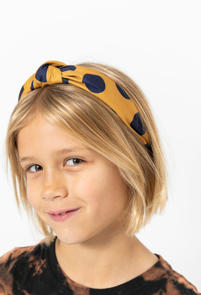CAMEL POLKA DOT HEADBAND