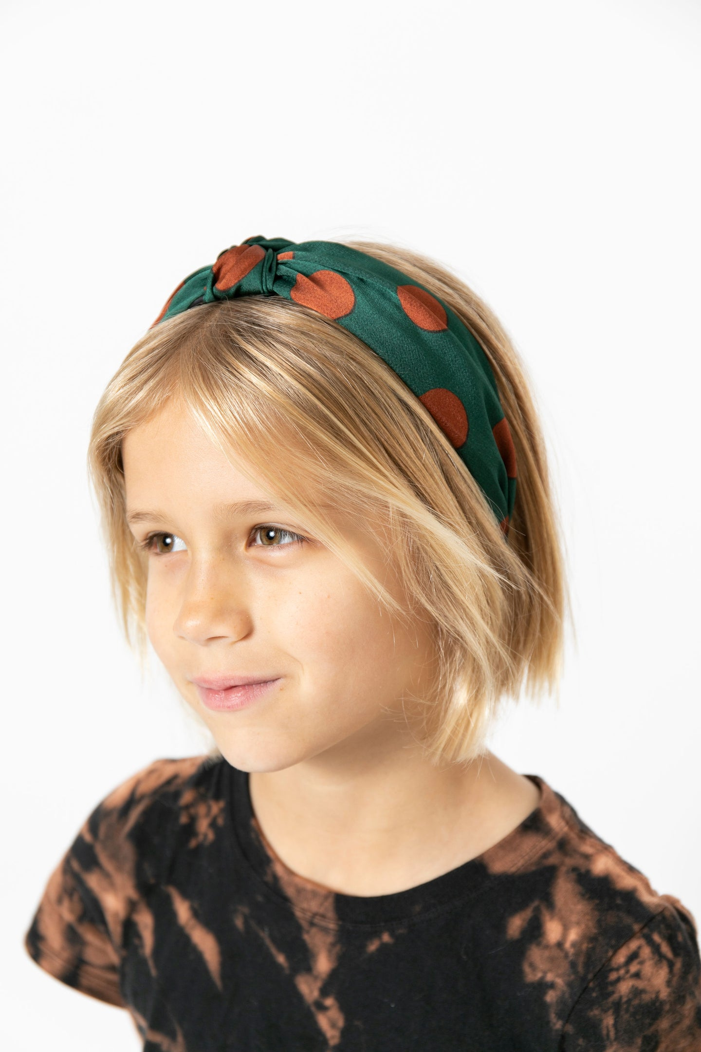 GREEN POLKA DOT HEADBAND