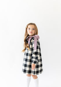 BUFFALO CHECK BOW DRESS