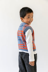 PLAID SWEATER VEST
