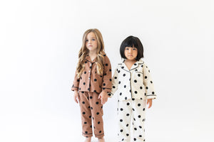 CREAM POLKA DOT PAJAMA SET