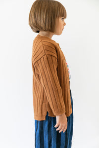 RIBBED CARDIGAN SWEATER