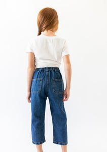 DARK PLEATED JEANS