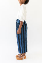 WIDE LEG STRIPED DENIM