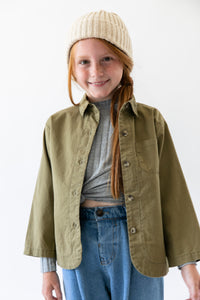 ARMY GREEN SHIRT JACKET