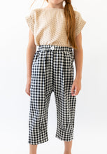 PLEATED GINGHAM PANTS