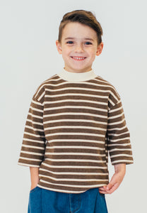 BROWN MOCK NECK SWEATSHIRT