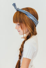 NAVY AND WHITE HEADBAND