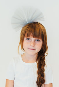 GREY TULLE HEADBAND