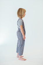 GINGHAM CROPPED SUSPENDERS