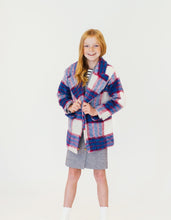 PINK AND BLUE PLAID COAT