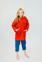 RED ASYMMETRICAL PEA COAT