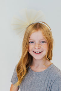 CREAM TULLE HEADBAND
