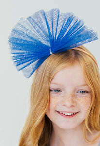 BLUE TULLE HEADBAND
