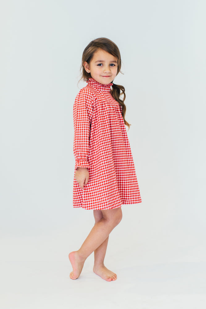RED GINGHAM NIGHTGOWN