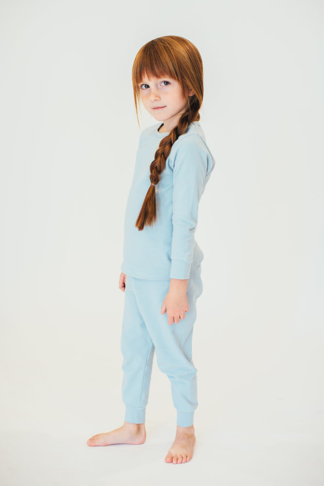 SOLID BLUE PAJAMAS