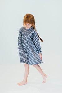 BLACK GINGHAM NIGHTGOWN