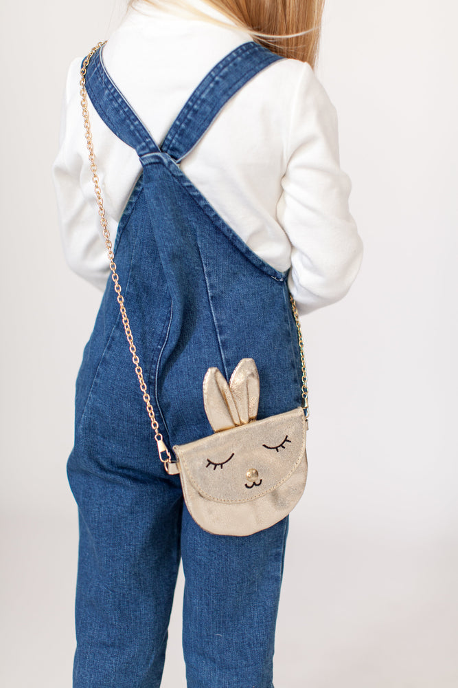 GOLD BUNNY PURSE