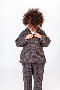 GINGHAM TWEED SUIT
