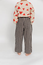 TAN AND BLACK GINGHAM PANTS
