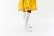 MUSTARD LACE POM DRESS