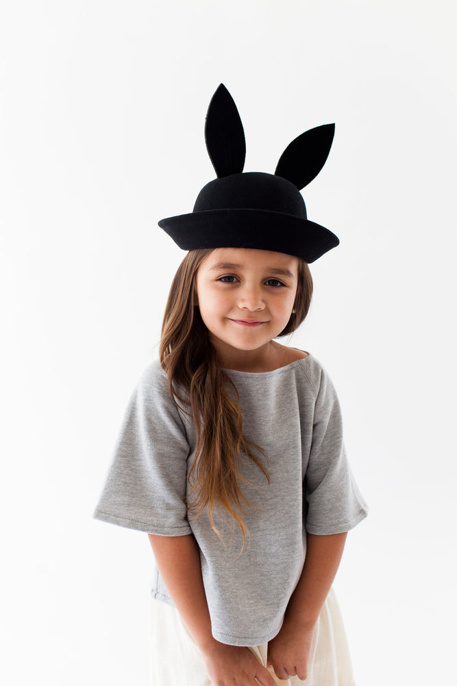BLACK BUNNY HAT