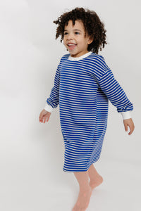 STRIPED SWEATSHIRT DRESS