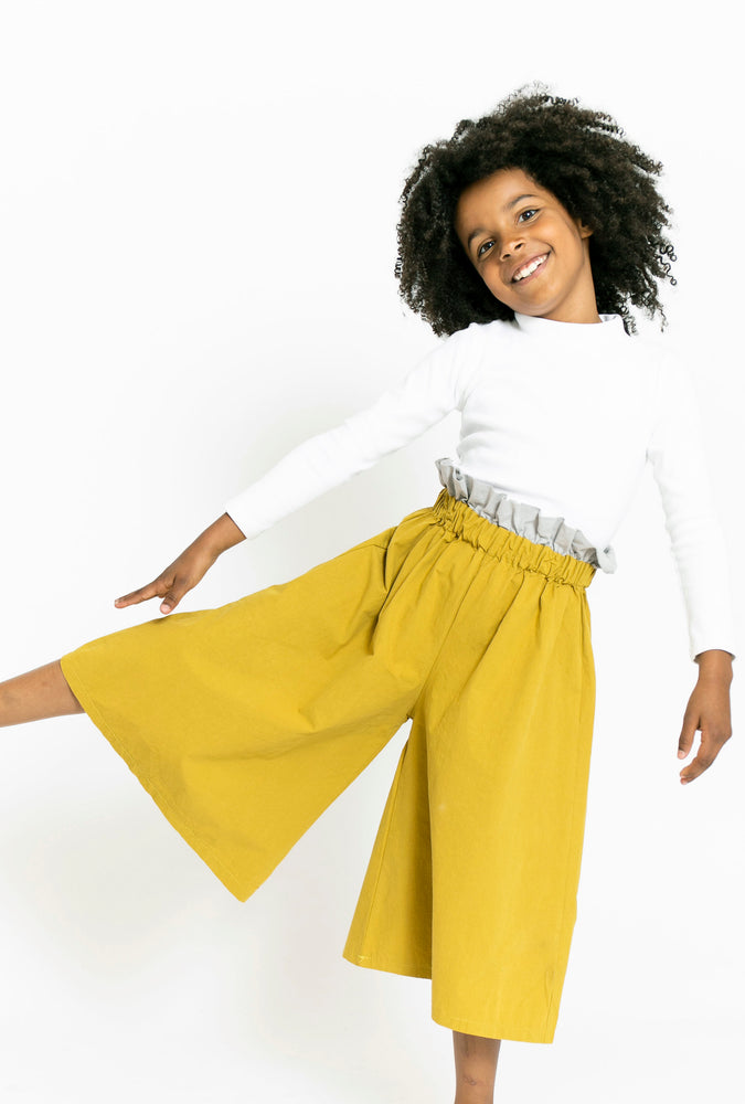 CHARTREUSE PAPERBAG CULOTTES
