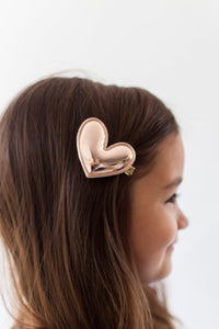 ROSE GOLD HEART CLIP