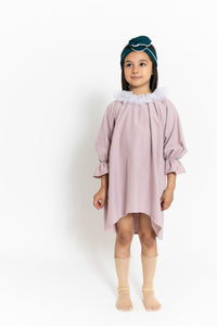 TULLE COLLAR DRESS