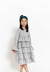 TIERED RUFFLE DRESS