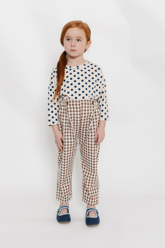 BROWN GINGHAM PANTS
