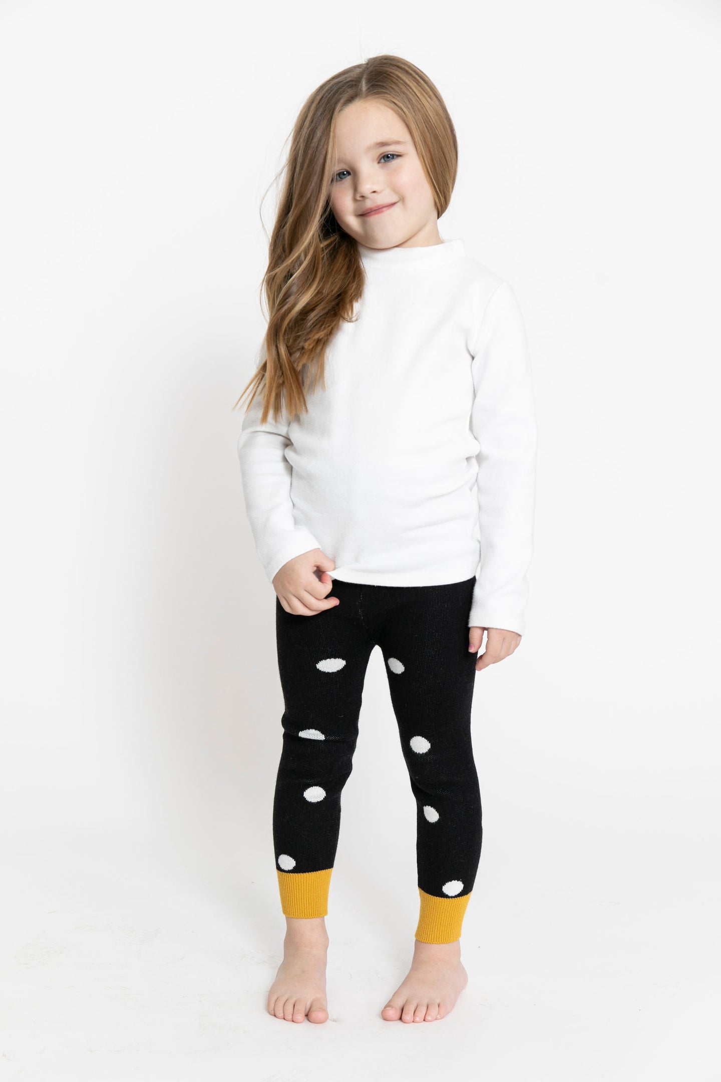 BLACK POLKA DOT LEGGINGS