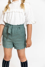 SCALLOPED TIE SHORTS