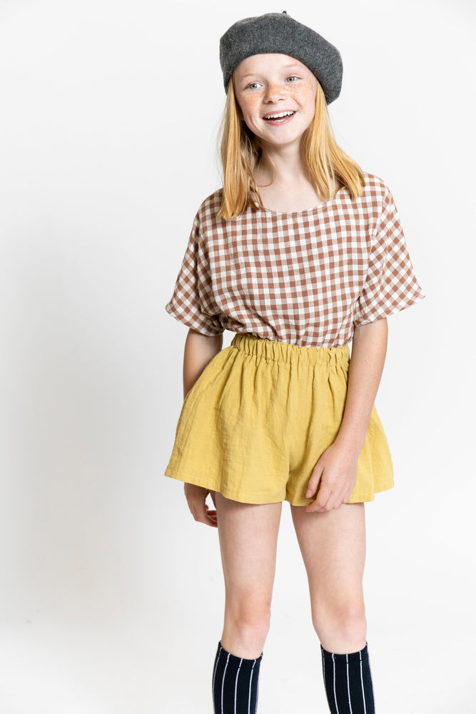 GINGHAM TOP WITH POCKETS